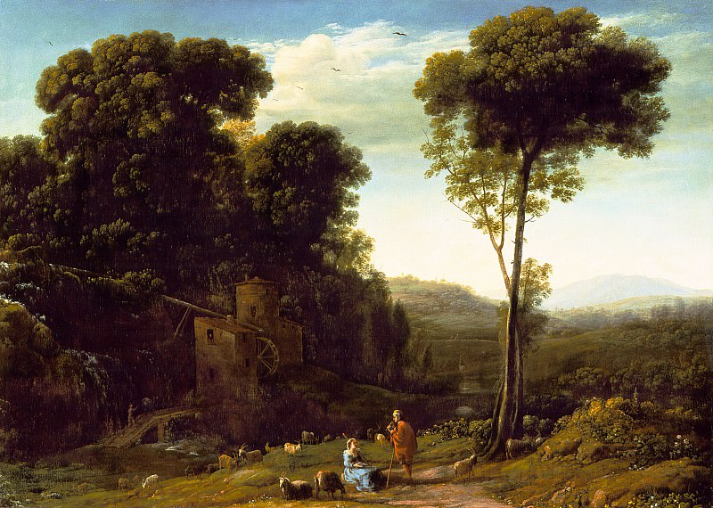 Claude Lorrain - Pastoral Landscape with a Mill. Los Angeles County Museum of Art (LACMA)