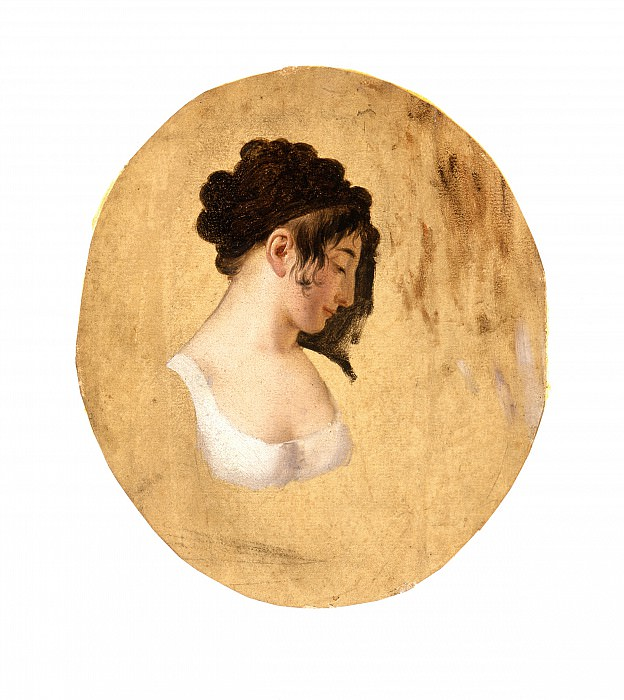 Louis-Leopold Boilly - Profile of a Young Woman′s Head. Los Angeles County Museum of Art (LACMA)