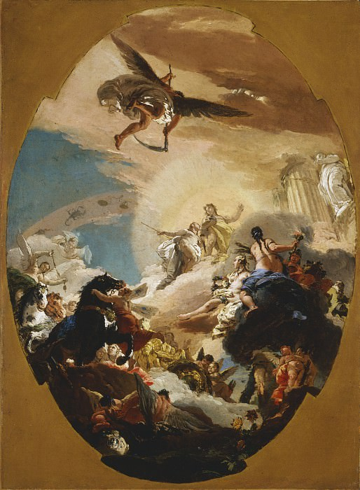 Giovanni Battista Tiepolo - Apollo and Phaethon. Los Angeles County Museum of Art (LACMA)