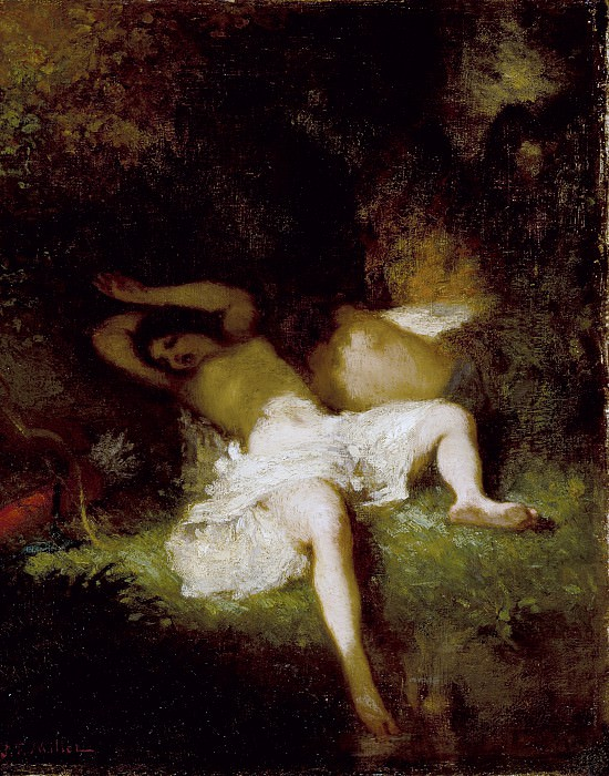 Jean-Francois Millet - Diana Resting. Los Angeles County Museum of Art (LACMA)