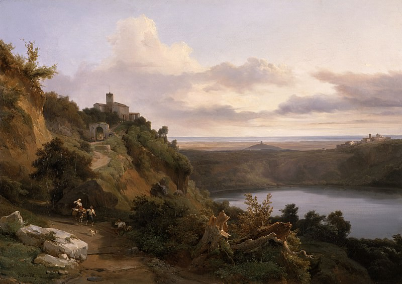 Jean-Charles Joseph Remond - Lake Nemi. Los Angeles County Museum of Art (LACMA)