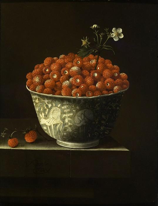 Adriaen Coorte - Wild Strawberries in a Wan Li Bowl. Los Angeles County Museum of Art (LACMA)