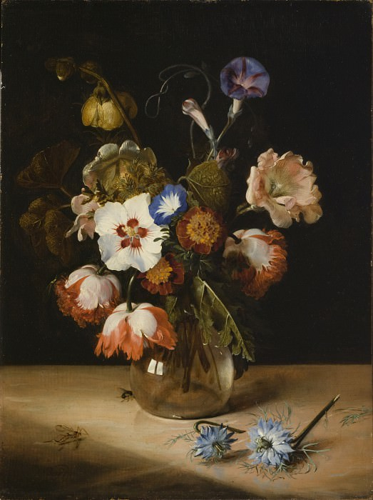 Dirck de Bray - Flowers in a Glass Vase. Los Angeles County Museum of Art (LACMA)