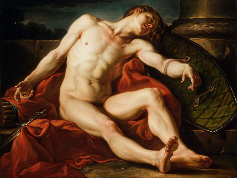 Jean-Simon Berthelemy - Death of a Gladiator. Los Angeles County Museum of Art (LACMA)