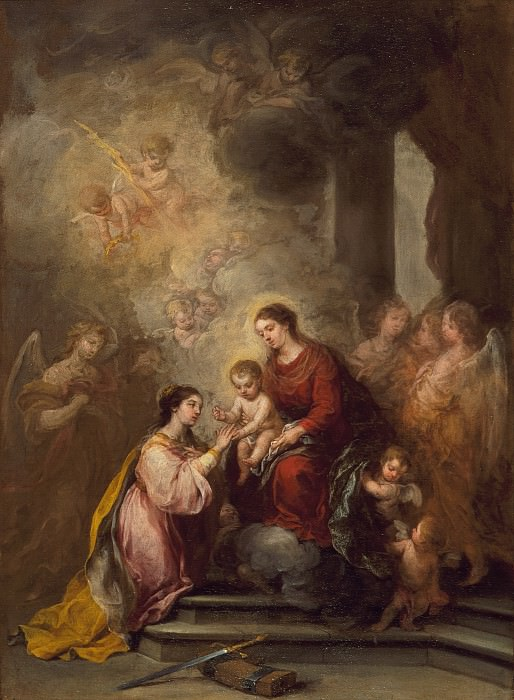Bartolome Esteban Murillo - The Mystic Marriage of Saint Catherine. Los Angeles County Museum of Art (LACMA)