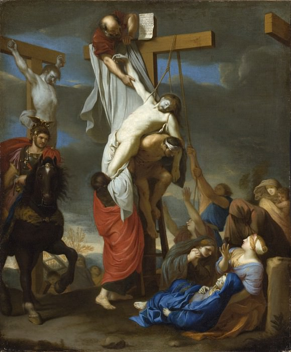 Charles Le Brun - The Descent from the Cross. Los Angeles County Museum of Art (LACMA)