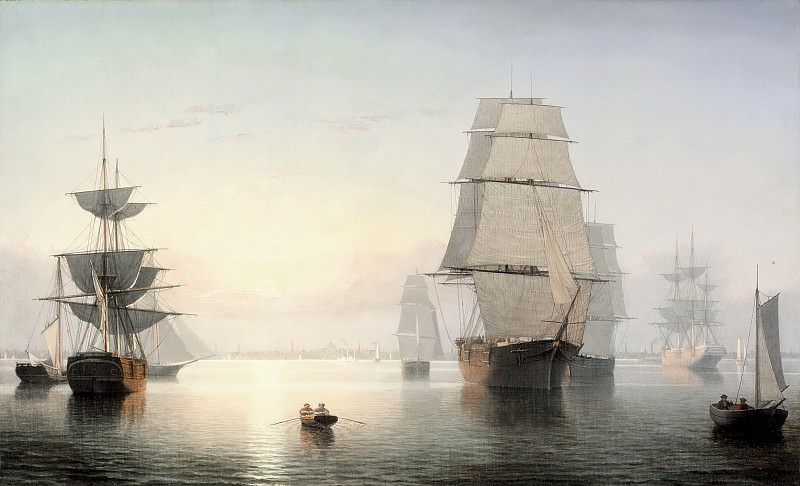Fitz Henry Lane - Boston Harbor, Sunset. Los Angeles County Museum of Art (LACMA)