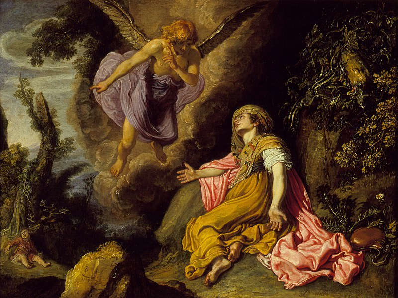 Pieter Lastman - Hagar and the Angel. Los Angeles County Museum of Art (LACMA)