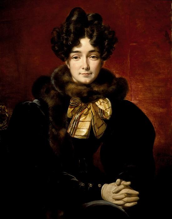 Эмиль Жан Орас Верне - Портрет дамы (возможно, миссис Пэтрик Кемпбелл, урожденной Фицджералд). Окружной художественный музей (LACMA) ~ Лос-Анджелес