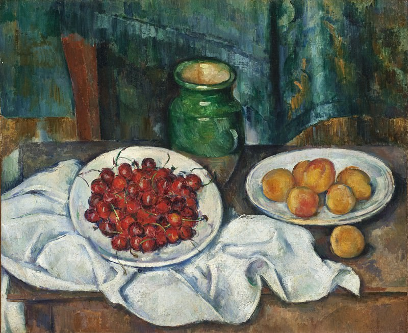 Paul Cezanne - Still Life With Cherries And Peaches. Los Angeles County Museum of Art (LACMA)