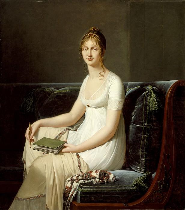 Робер-Жак Лефевр - Портрет женщины с карандашом и альбомом для рисования. LACMA (Лос Анджелес)