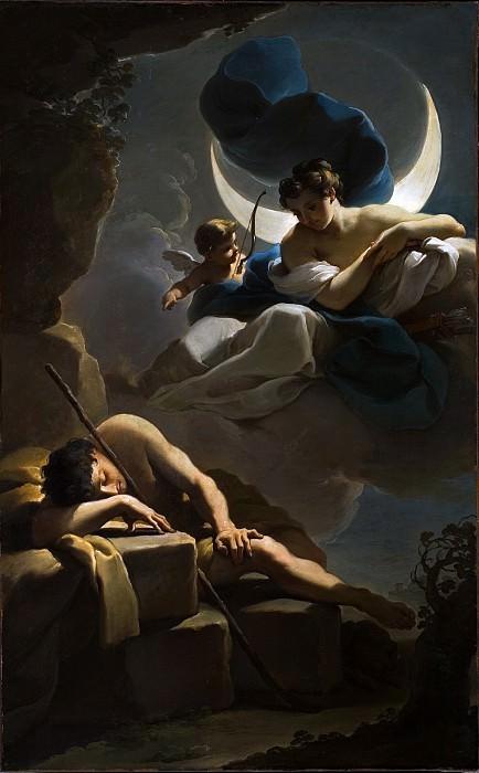 Ubaldo Gandolfi - Selene and Endymion. Los Angeles County Museum of Art (LACMA)