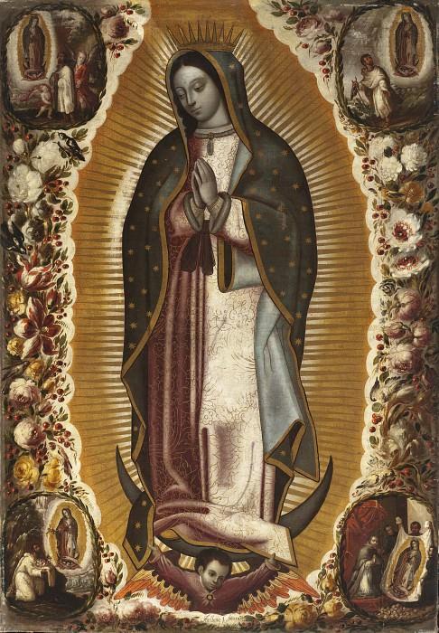 Manuel de Arellano - Virgin of Guadalupe (Virgen de Guadalupe). Los Angeles County Museum of Art (LACMA)