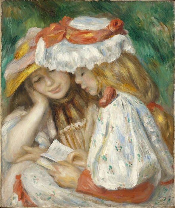 Pierre-Auguste Renoir - Two Girls Reading. Los Angeles County Museum of Art (LACMA)
