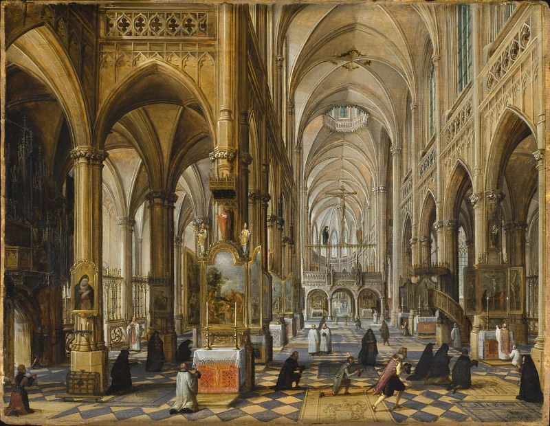 Paul Vredeman de Vries - Interior of Antwerp Cathedral. Los Angeles County Museum of Art (LACMA)