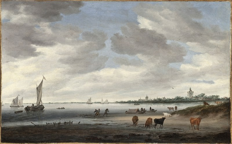 Salomon Jacobsz van Ruysdael - View of the River Lek and Vianen. Los Angeles County Museum of Art (LACMA)