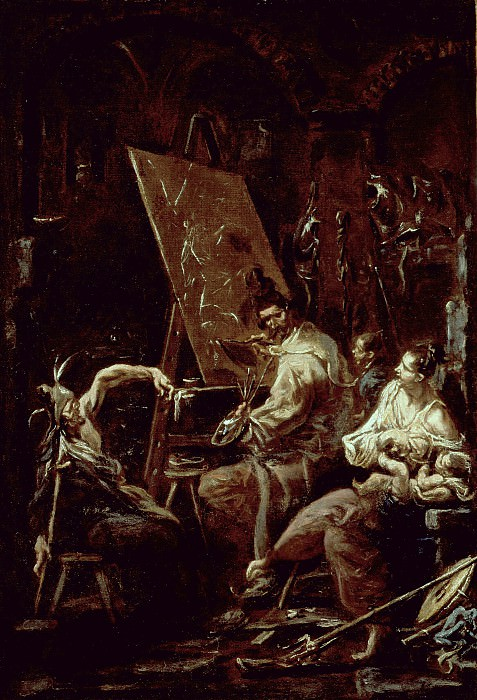 Alessandro Magnasco - The Artist′s Studio. Los Angeles County Museum of Art (LACMA)
