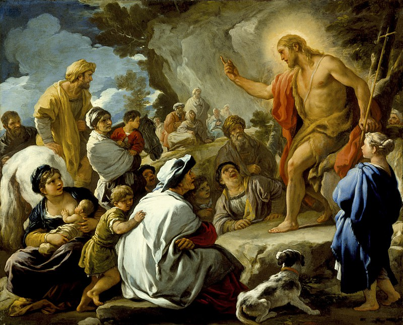 Luca Giordano - St. John the Baptist Preaching. Los Angeles County Museum of Art (LACMA)