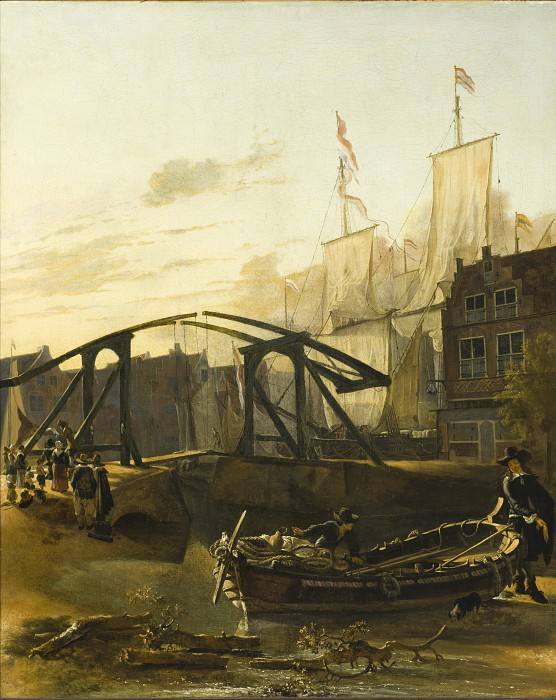 Adam Pynacker - View of a Harbor in Schiedam. Los Angeles County Museum of Art (LACMA)