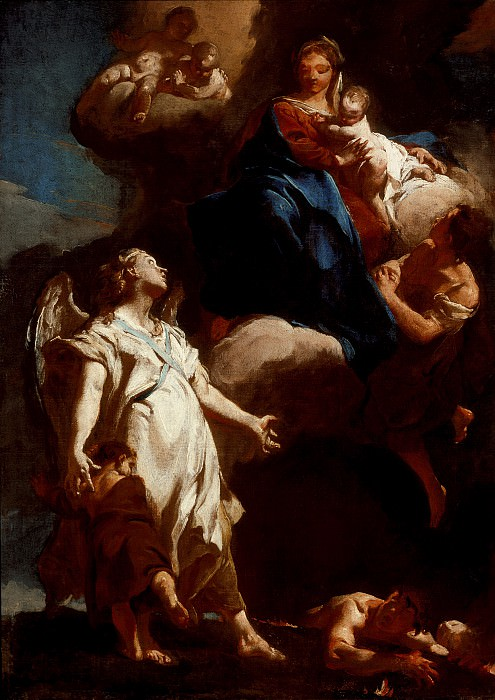 Giovanni Battista Piazzetta - The Virgin Appearing to the Guardian Angel. Los Angeles County Museum of Art (LACMA)