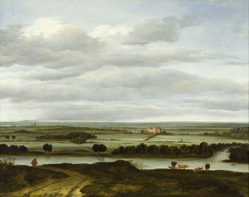 Anthonie Van Borssom - Panoramic Landscape near Rhenen with the Huis ter Lede. Los Angeles County Museum of Art (LACMA)