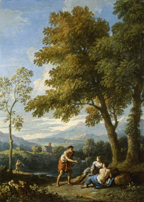 Jan Frans van Bloemen (called Orizzonte) - One of a Pair of Views of the Roman Campagna with Figures Conversing. Los Angeles County Museum of Art (LACMA)