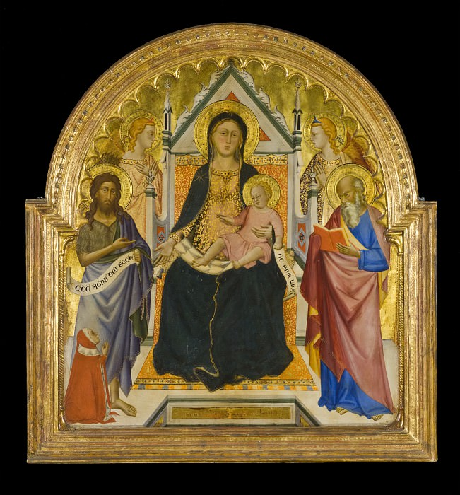 Don Silvestro dei Gherarducci (attributed to) - Madonna and Child with Sts. John Baptist and Paul (?). Los Angeles County Museum of Art (LACMA)