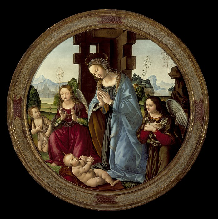 Tommaso - Virgin Adoring the Christ Child with St. John the Baptist and Two Angels. Los Angeles County Museum of Art (LACMA)