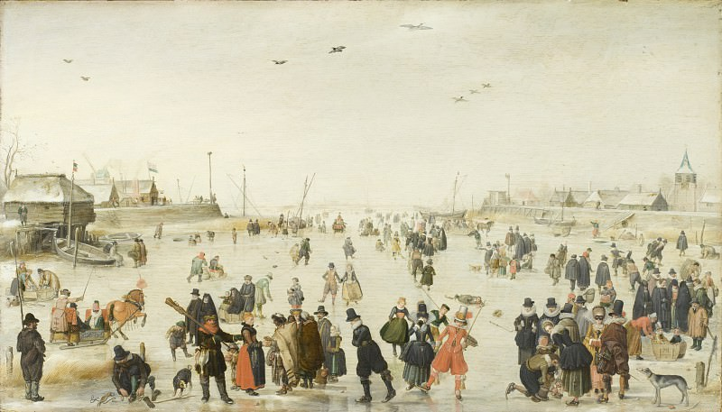 Hendrick Avercamp - Winter Scene on a Frozen Canal. Los Angeles County Museum of Art (LACMA)