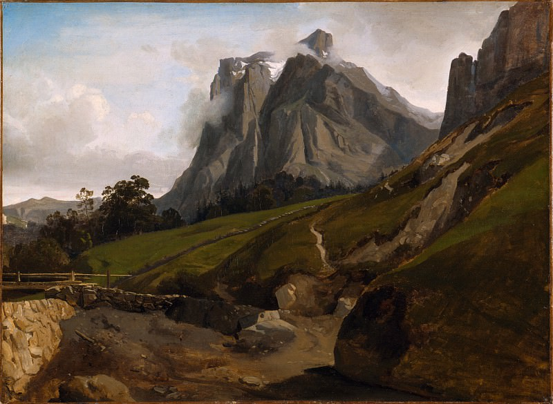 Theodore Caruelle d′Aligny - The Wetterhorn, Switzerland. Los Angeles County Museum of Art (LACMA)