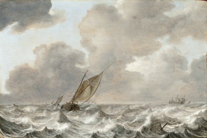 Jan Porcellis - Vessels in a Moderate Breeze. Los Angeles County Museum of Art (LACMA)