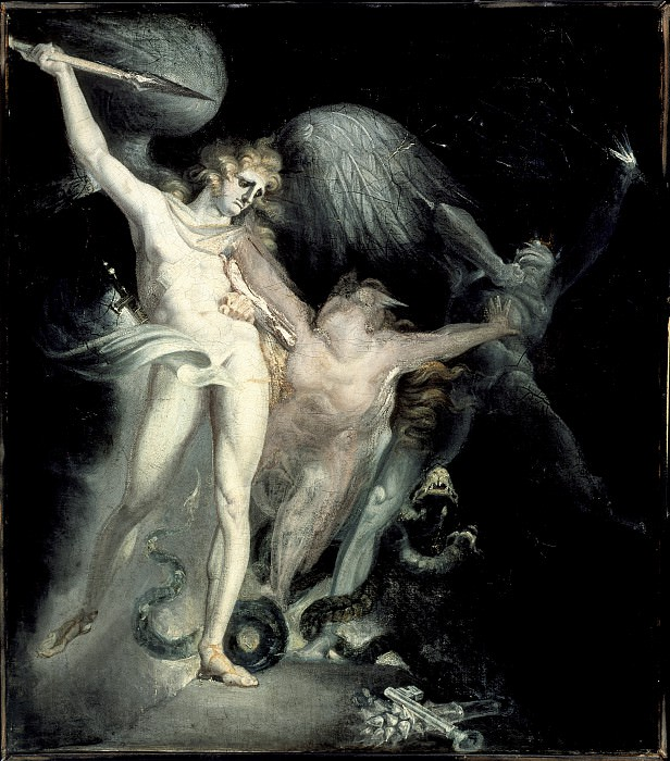Henry Fuseli - Satan and Death with Sin Intervening. Los Angeles County Museum of Art (LACMA)