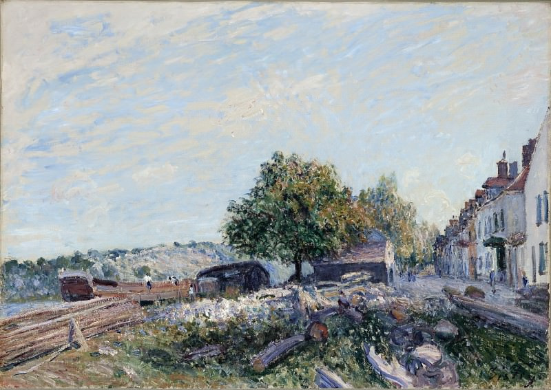 Alfred Sisley - Saint Mammes-Morning. Los Angeles County Museum of Art (LACMA)