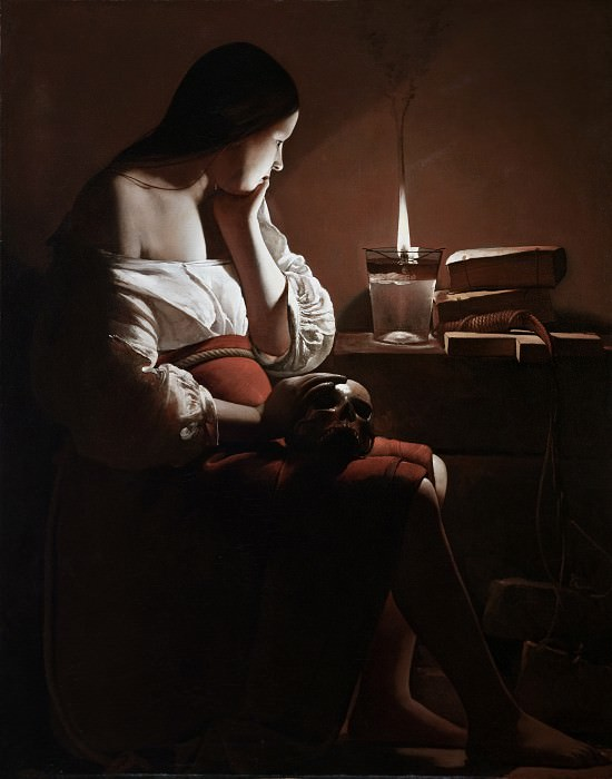 Georges de La Tour - The Magdalen with the Smoking Flame. Los Angeles County Museum of Art (LACMA)