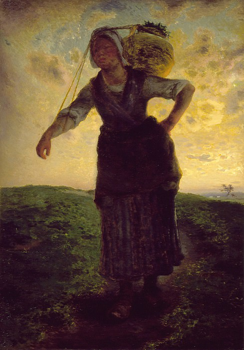 Jean-Francois Millet - A Norman Milkmaid at Greville. Los Angeles County Museum of Art (LACMA)