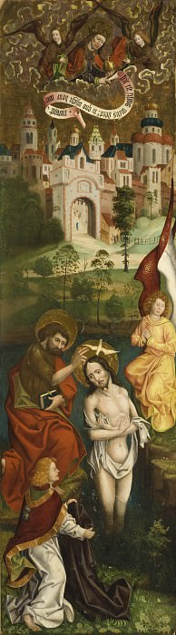 Jan Polack - Baptism of Christ (one of four panels). Los Angeles County Museum of Art (LACMA)