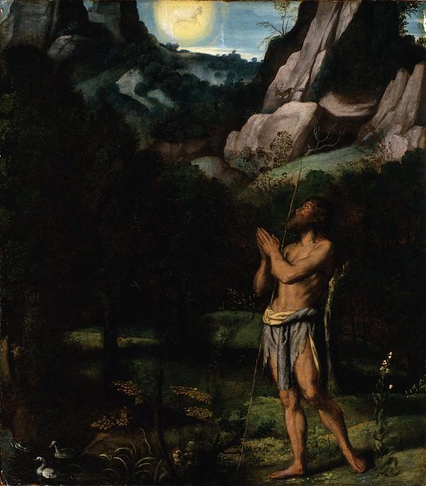 Моретто да Брешиа - Св. Иоанн Креститель в пустыне. Окружной художественный музей (LACMA) ~ Лос-Анджелес