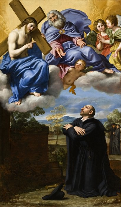 Domenico Zampieri (called Domenichino) - Saint Ignatius of Loyola′s Vision of Christ and God the Father at La Storta. Los Angeles County Museum of Art (LACMA)