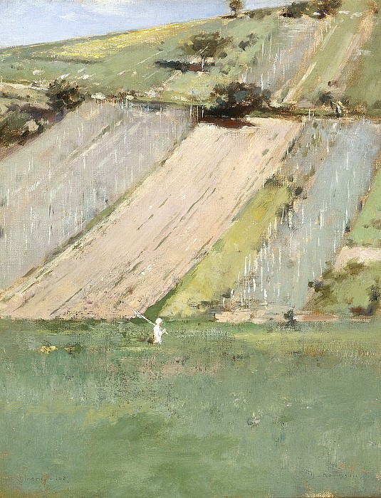 Theodore Robinson - Valley of the Seine, Giverny. Los Angeles County Museum of Art (LACMA)