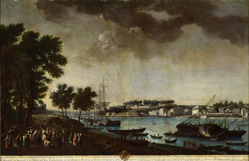 Juan Patricio Morlete Ruiz - View of the City and Port of Bayonne from the Pathways of Boufflers (Vista de la villa y puerto de Bayona tomada desde el paseo de Boufflers). Los Angeles County Museum of Art (LACMA)