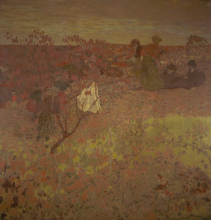Edouard Vuillard - Walking in the Vineyard. Los Angeles County Museum of Art (LACMA)