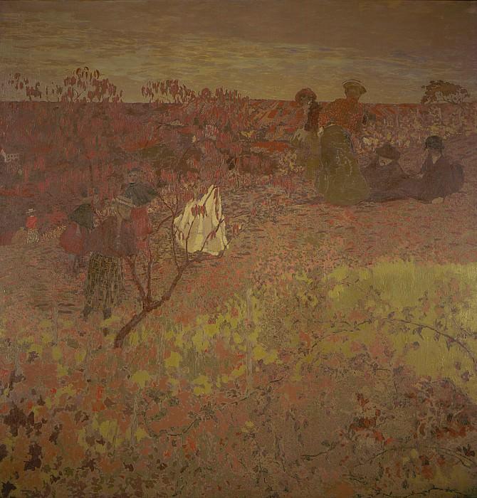 Эдуар Вюйар - Прогулка в винограднике. LACMA (Лос Анджелес)