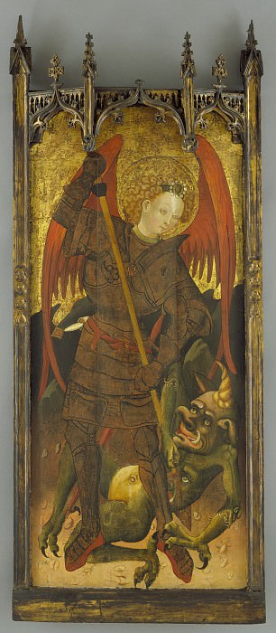 Andres Marzal de Sas (school of) - Saint Michael Fighting the Dragon. Los Angeles County Museum of Art (LACMA)