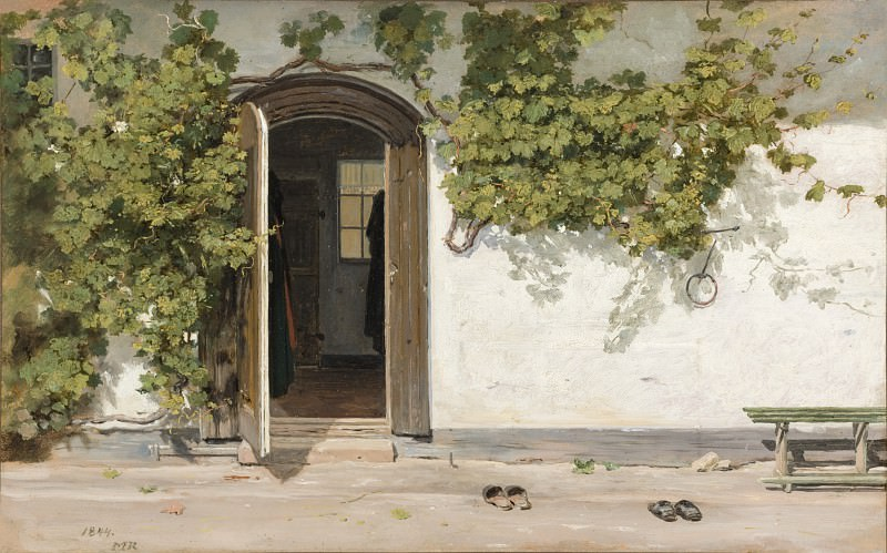 Martinus Rorbye - Entrance to an Inn in the Praestegarden at Hillested. Los Angeles County Museum of Art (LACMA)