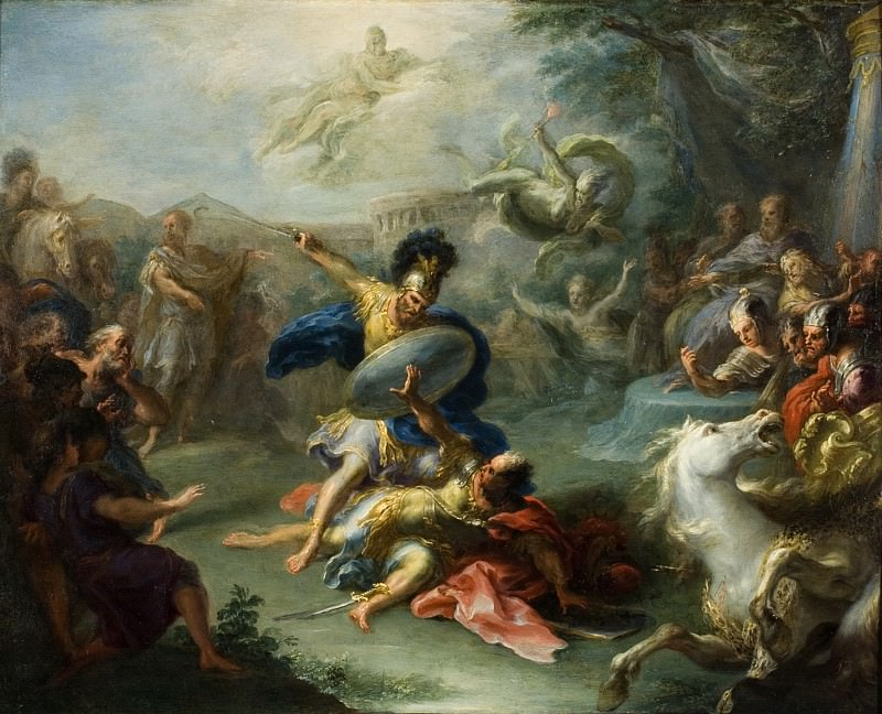 Giacomo del Po - The Fight between Aeneas and King Turnus. Los Angeles County Museum of Art (LACMA)