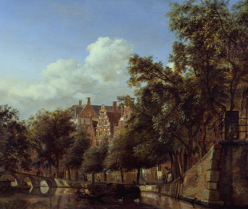 Jan van der Heyden - Herengracht, Amsterdam, Viewed from the Leliegracht. Los Angeles County Museum of Art (LACMA)