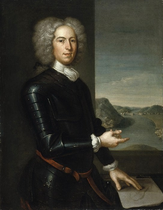 John Smibert - Portrait of Major General Paul Mascarene. Los Angeles County Museum of Art (LACMA)