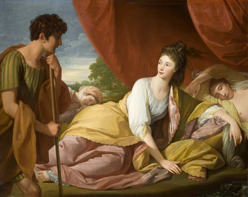 Benjamin West - Cymon and Iphigenia. Los Angeles County Museum of Art (LACMA)
