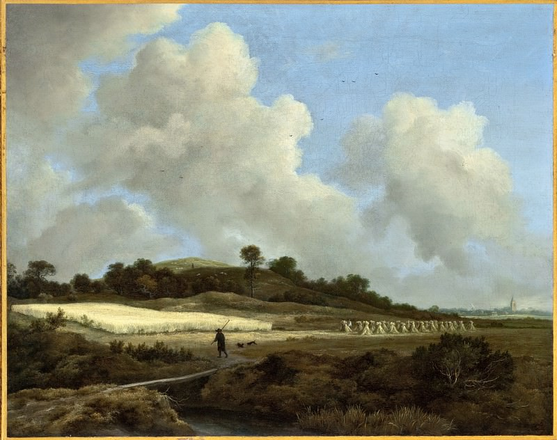 Jacob van Ruisdael - View of Grainfields with a Distant Town. Los Angeles County Museum of Art (LACMA)