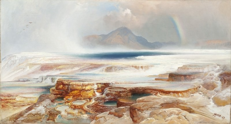 Thomas Moran - Hot Springs of the Yellowstone. Los Angeles County Museum of Art (LACMA)